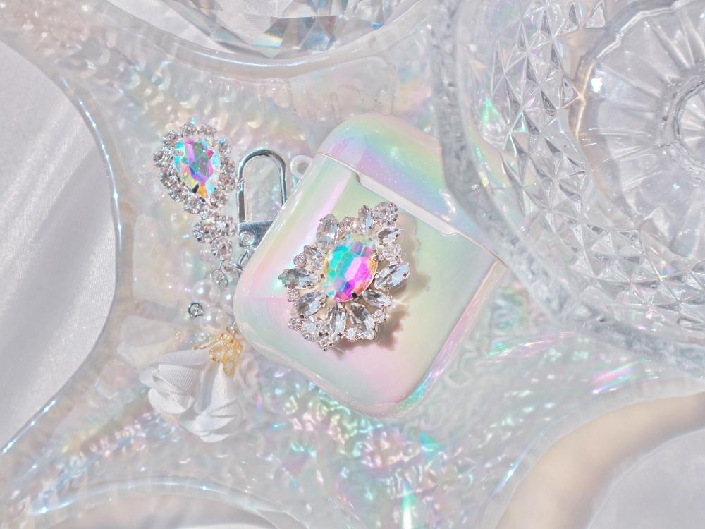 *작정하고예쁨* 투톤보석 오로라 에어팟케이스 - 투틸다, 16,900원, 케이스, 에어팟