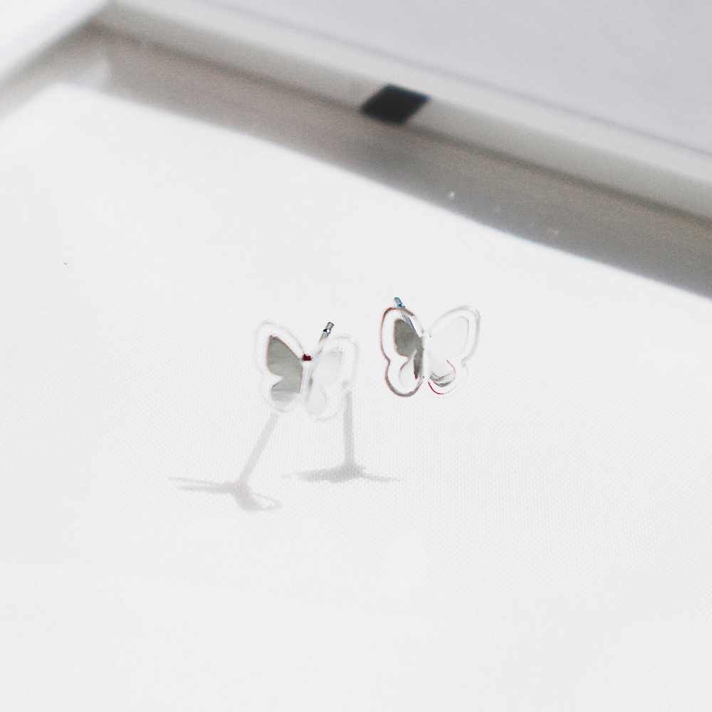 미니 나비귀걸이 - 투틸다, 7,900원, 실버, 볼귀걸이